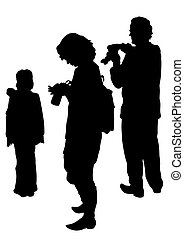 Family with camera