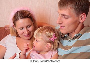 Family with little girl