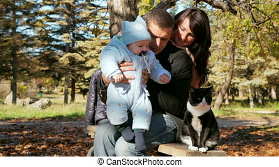 family with toddler