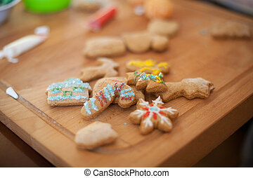 Family Working On gingerbread