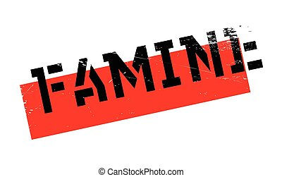 Famine rubber stamp. Grunge design with dust scratches....