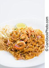 famoso, alimento tailandés, cojín tailandés
