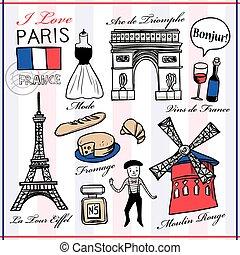 famoso, cosas, francia, paisajes