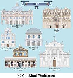 famoso, italia, lugares