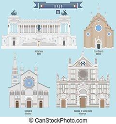 famoso, lugares, en, italia