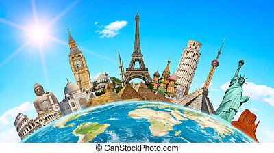 famoso, monumenti, mondo