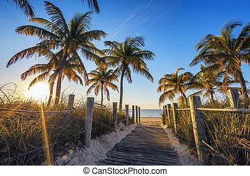 famoso, playa, pasaje