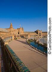 famoso, plaza de espana, sevilla, españa