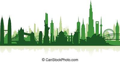 famoso, señales, cityscape