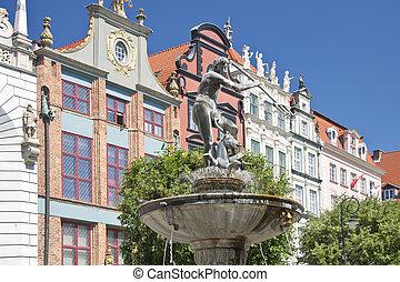 famosos, cidades, em, polônia, -, gdansk, -, danzig.