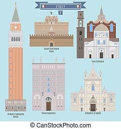 famosos, itália, lugares
