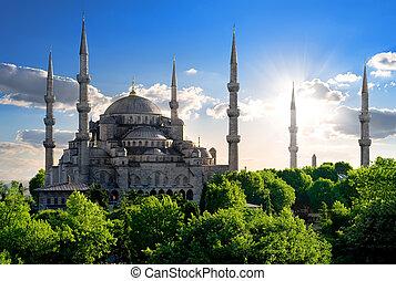 famosos, mesquita azul