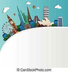 famosos, monumentos, mundo