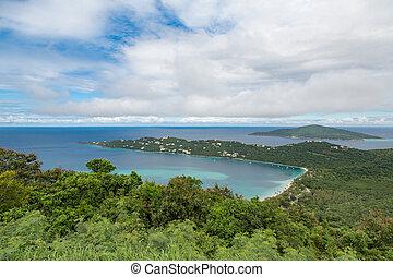 famosos, praia, ligado, st thomas, ilha