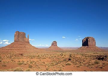 famosos, vale, paisagem, monumento