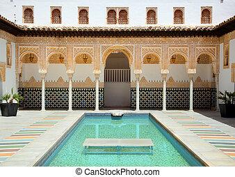Alhambra of Poble Espanyol in Palma de Mallorca