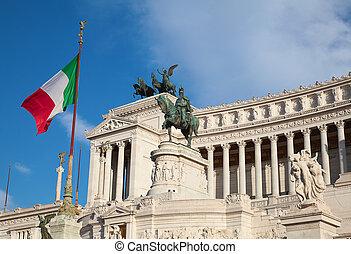 """Famous """"Altare della Patria"""" in Rome, Italy"""