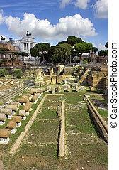 famous ancient Roman Forum, Rome, Italy