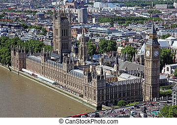 Famous and Beautiful view to Big Ben and the Houses of Parliament