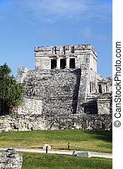 Tulum - Famous archaeological ruins of Tulum in Mexico