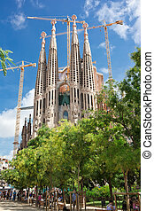 Sagrada Familia in Barcelona - Famous architecture...