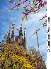 Famous architecture masterpiece Sagrada Familia in...