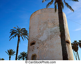 Torre Vigia Berber pirate watchtower Cabo Roig Orihuela ...