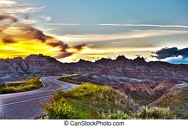 Famous Badlands Road