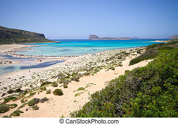 Balos beach on Crete island, Greece