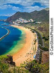 famous beach near Santa Cruz de Tenerife