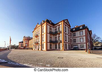 famous Biebrich Castle in Wiesbaden