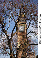 Famous Big Ben in London, England