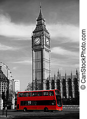 Famous Big Ben in London, England, United Kingdom