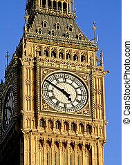 Famous Big Ben London clock close up