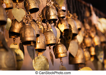 Famous Big Buddha wish bells, Phuket, Thailand - Famous Big...