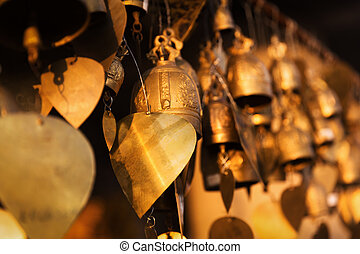 Famous Big Buddha wish bells, Phuket, Thailand - Famous Big...