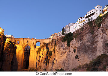 Famous bridge Puente Nuevo in Ronda, Andalusia Spain
