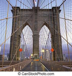 Famous Brooklyn Bridge in Manhattan