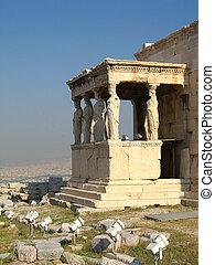 aryatid portico in Acropolis