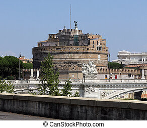 famous Castel Sant'Angelo in Rome, the old tomb of Emperor Aurelius