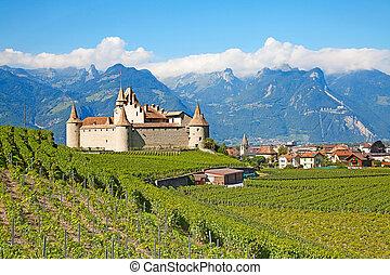 Chateau d'Aigle - Famous castle Chateau d'Aigle in canton ...