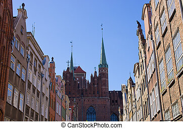 Famous cathedral of Gdansk, Poland