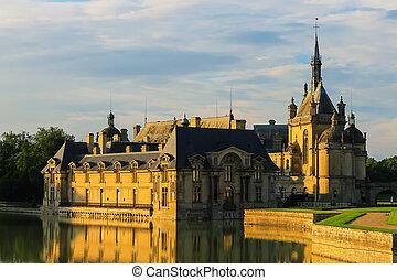 Famous Chateau de Chantilly (Chantilly Castle). France
