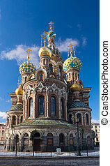 Famous Church of the Savior on Blood in St. Petersburg