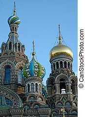 Famous church of the Savior on Spilled Blood in Saint Petersburg, Russia.