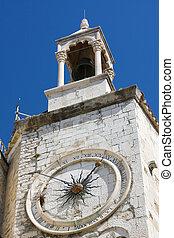 Famous clock tower in Split