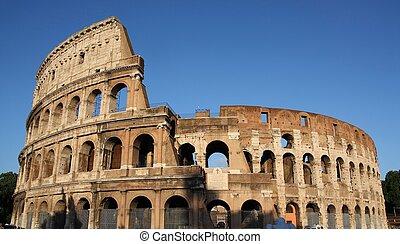 Famous Colosseum or Coliseum in Rome(Flavian Amphitheatre), ...