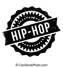 Famous dance style, Hip-Hop stamp. Grunge design with dust...