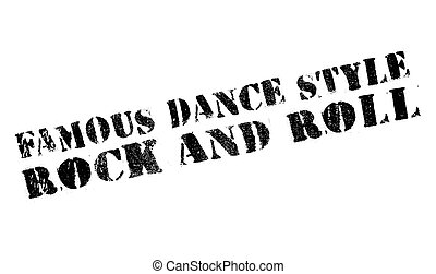 Famous dance style, Rock and Roll stamp