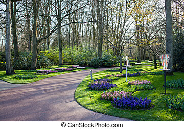 Famous flowers park Keukenhof in Netherlands also known as...